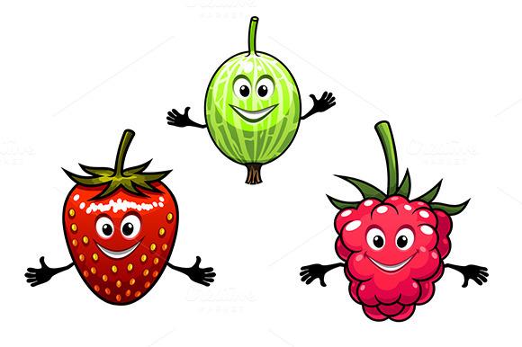 Gooseberry Raspberry And Strawberry