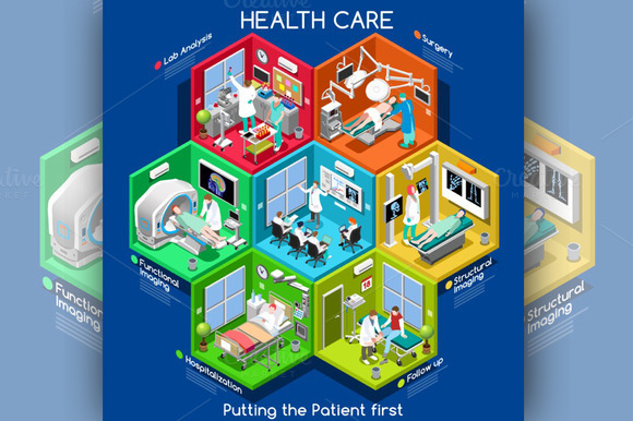 Healthcare Cells Isometric