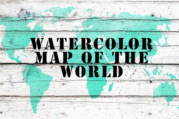 Watercolor map of the world.Vector - Objects