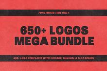 MEGA BUNDLE 650+ Logos and Badges