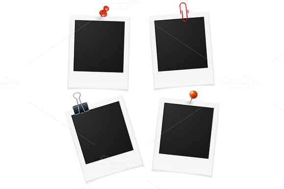Photo Frames and Pin. Vector - Objects