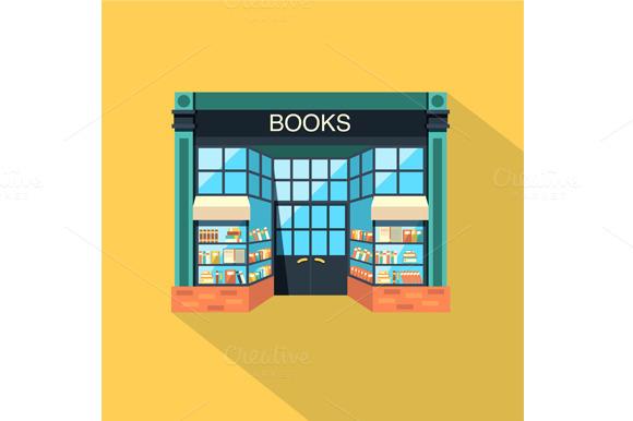 Bookstore. Books, science, knowledge - Graphics