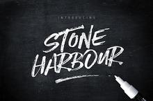 Stone Harbour Brush Font + Extras