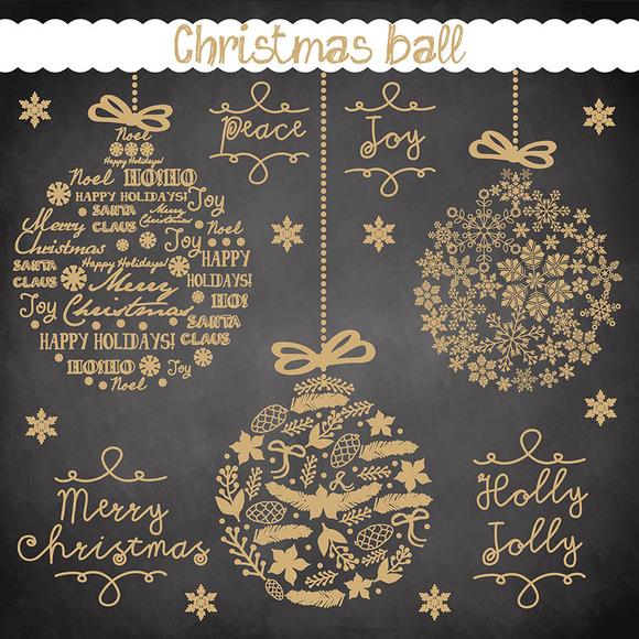 Vector Christmas Ball Cliparts