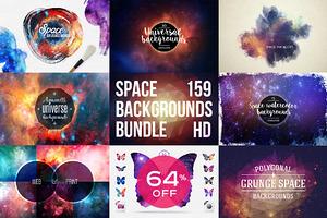 159 Space Backgounds BUNDLE 64% OFF