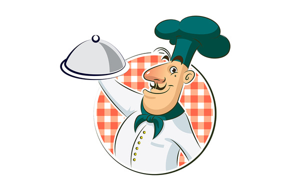 Cook restaurant. Vector illustration - Illustrations