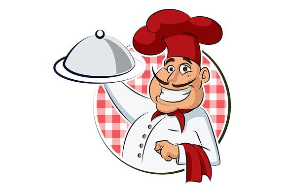 Cook restaurant. Vector illustration - Illustrations