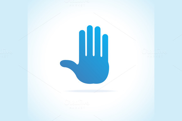 Hand, Stop Icon. Vector - Icons