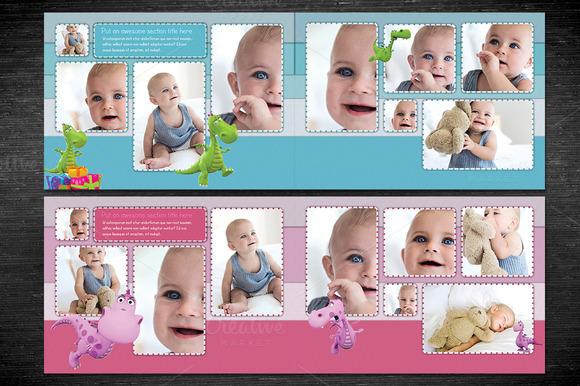 baby photobook album template