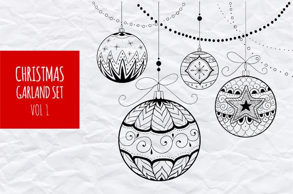 Christmas garland set vol.1 - Illustrations