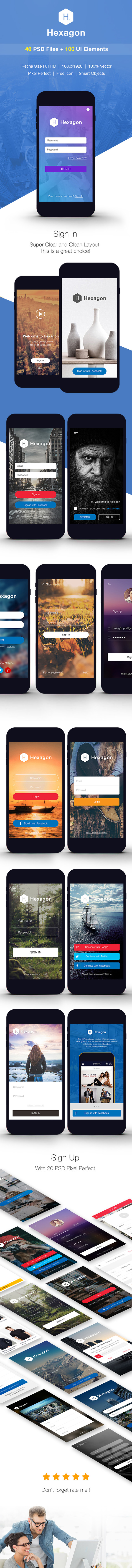 SignUp Login Mobile Form UI Kit