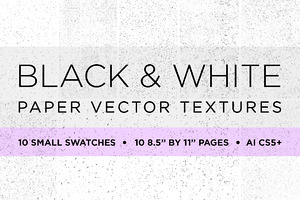 20 Black&White Paper Vector Textures