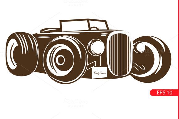 retro car. Vintage cars. - Illustrations