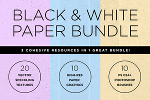Black & White Paper Texture Bundle