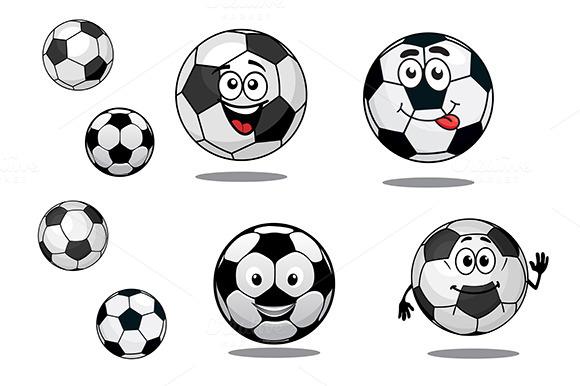 Cartoon Soccer Or Football Balls