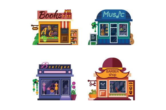 Set Of Nice Shops