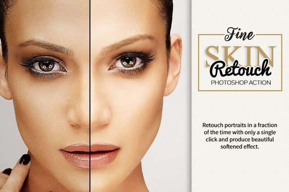 Fine Skin Retouch Photoshop Action - Actions
