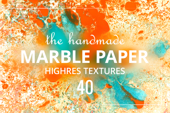 The handmade Marble Paper. Vol 2 - Textures
