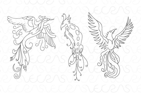Phoenix The Bird Of Fire Vector