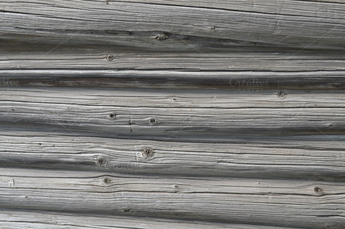 Log Wall Texture. Old Gray Wood - Textures