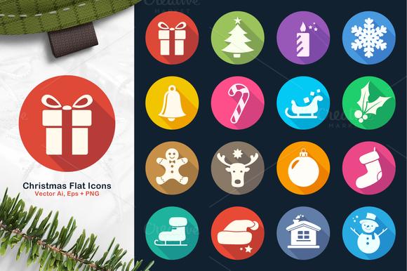 Christmas Flat Icons 2
