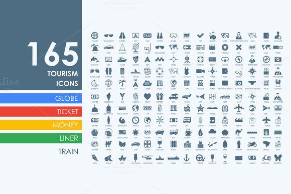 165 Tourism Icons