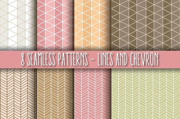8 Seamless Patterns Lines Chevron