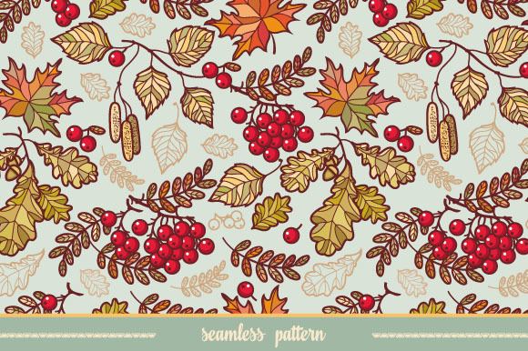 Seamless pattern. Autumn leaves. - Patterns