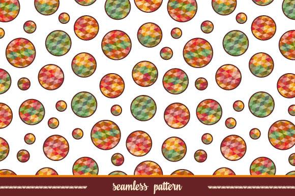 Polygonal circles. Seamless pattern. - Patterns
