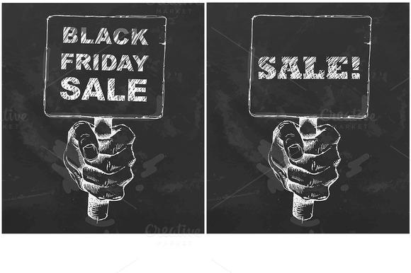 Hand drawn plate. Black Friday Sale - Illustrations