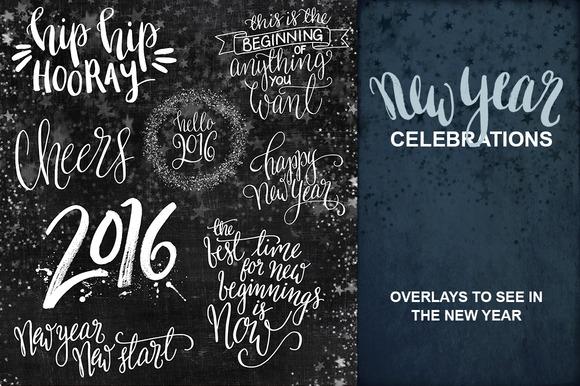 New Year Celebration Overlays