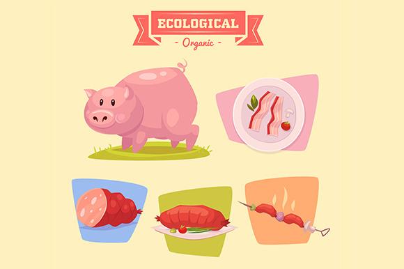 Farm Animals Cute Pig