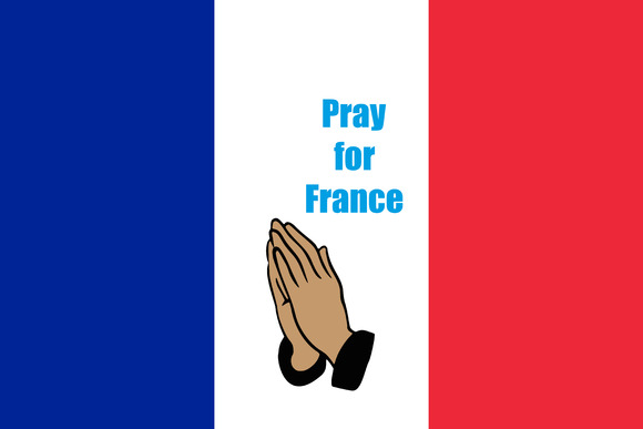 Flag Of France With Praying Hands