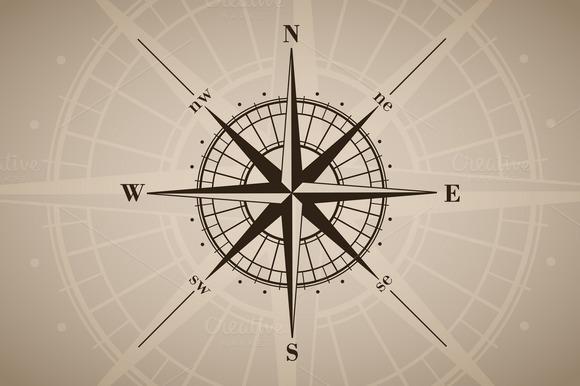 Vector Compass Rose 6