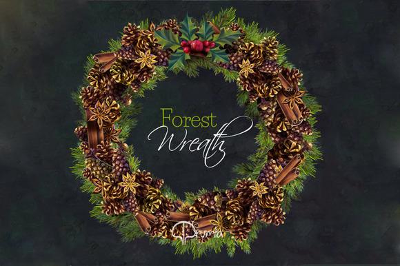 Christma Wreath Clip Art Forest