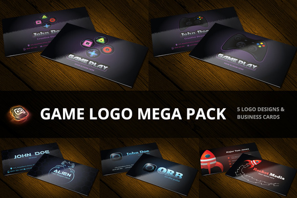 game logo mega pack business card templates on creative