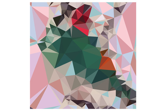Charm Pink Abstract Low Polygon Back