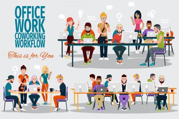 OFFICE WORK COWORKING WORKFLOW