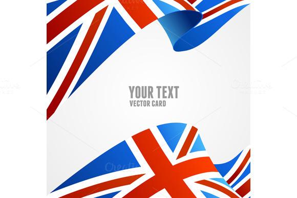 American and U.K. Flag Border - Illustrations