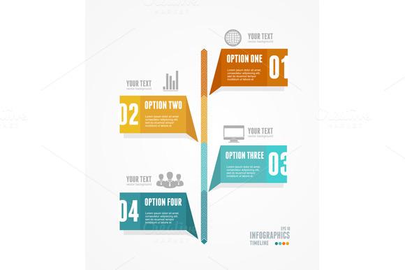 Infographic Retro Style Vector