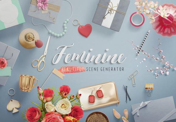 Feminine Mockup Scene Generator