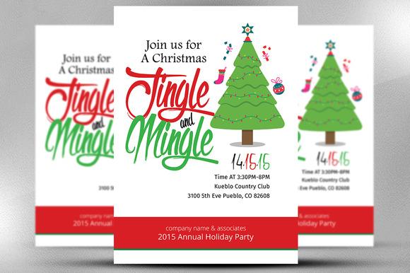 CM - Christmas Office Invitation Flyer 439943