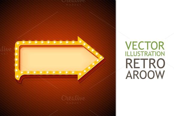 Volume Retro Arrow With Lights