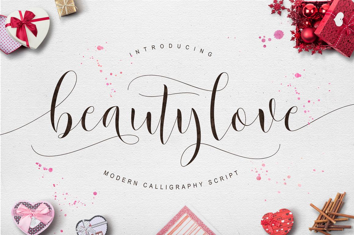 Beautylove Script Script Fonts On Creative Market