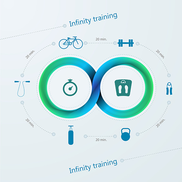 Infinity Sports Training Vector Icon