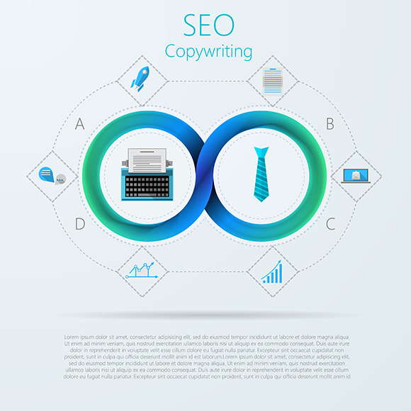 SEO And Copywriting Vector Icons