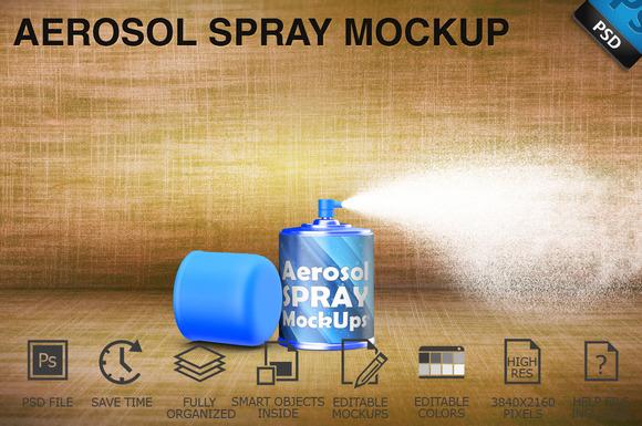 Aerosol Spray Mockup 09