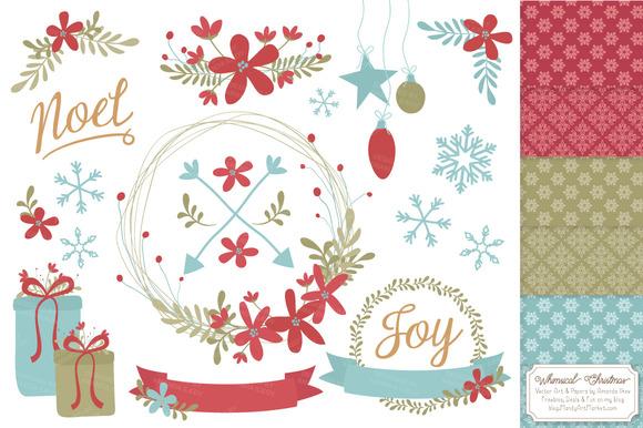Vintage Christmas Wreath Patterns