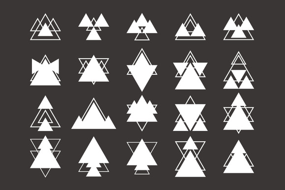 Collection Of Trendy Geometric Shape