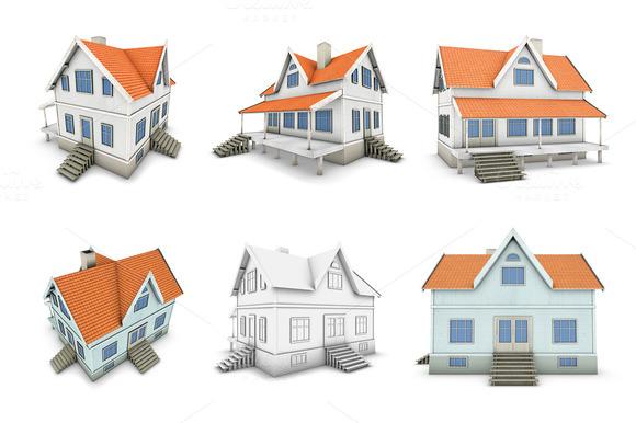 Set Of New Family House